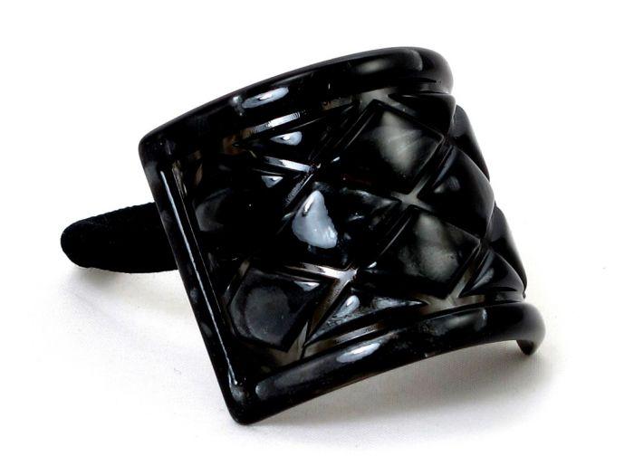 Gigi Quilted Hårelastik - BLACK