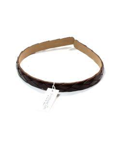 Mørkebrun flet læder Diadem - 1.3 cm