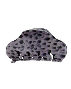 Lilla Leopard fashion hårklämma - 9 cm