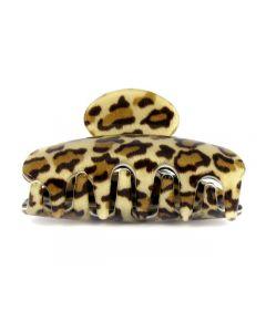 Lysbrun Leopard hårklämma