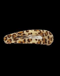 Lysbrun Leopard spänne - 5.3 cm