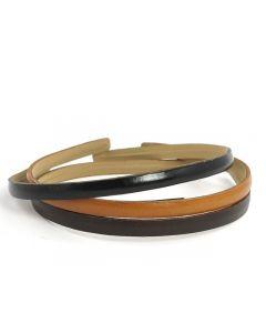 Simple Læder Diadem – 0.5 cm
